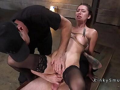 brunette girls, deepthroat blowjob, painful drilling, top bondage clips xxx movie