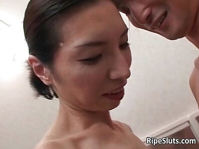 asian sex, horny and wet, mature women, older woman fucking, shower humping, watching sex xxx movie