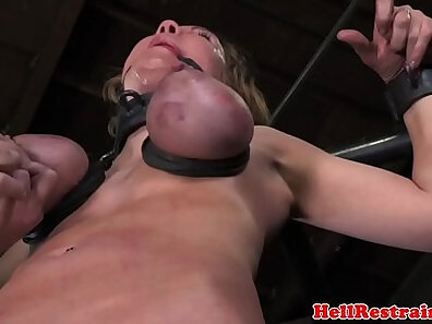 BDSM in HQ, boobs in HD, gagging on cock, testicles xxx movie